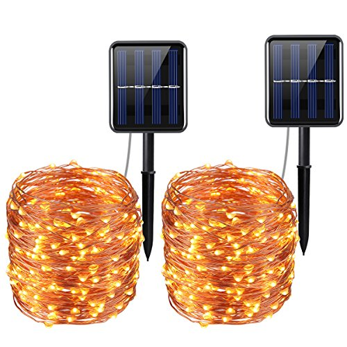 oria solar kupfer lichterkette 20m 8modus 200leds. Black Bedroom Furniture Sets. Home Design Ideas