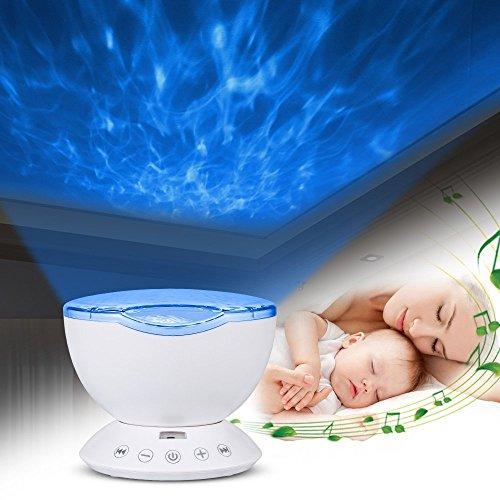 Neuester Entwurf Projektor Lampe,IWILCS Ozeanwelle Projektor Licht Schlaf  Nachtlicht Lampe Mit Multifunktionale Fernbedienung Musik Eingang  /7Lichtmodi/4 ...