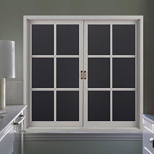Rabbitgoo Fensterfolie Schwarz Sichtschutzfolie selbstklebend ...