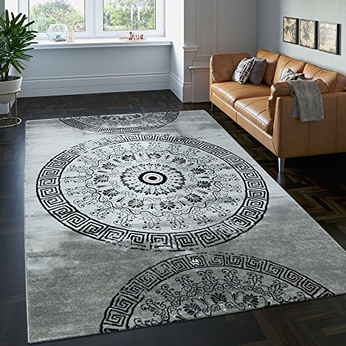 1a06e90bf92157 Paco Home Designer Teppich Wohnzimmer Mandala Muster Kurzflor Barock ...