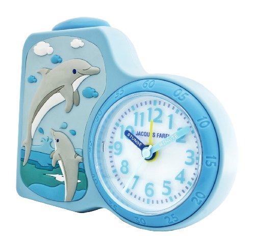 jacques farel kinderwecker delfine hellblau ohne ticken mit licht und snooze acb 712 do ztirom. Black Bedroom Furniture Sets. Home Design Ideas