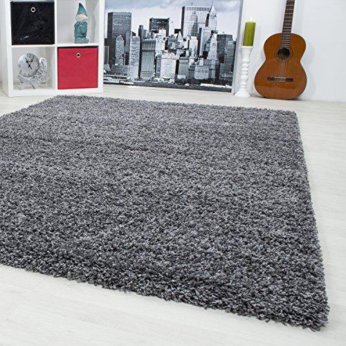 teppiche hochflor shaggy fur wohnzimmer esszimmer gastezimmer mit 3 cm florhohe einfarbig shaggy teppiche oekotex zertifizierte teppiche