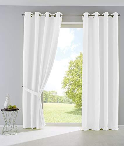 2er set vorh nge blickdicht gardinen matt lichtdurchl ssig. Black Bedroom Furniture Sets. Home Design Ideas